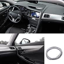 ATMOMO 5M Flexible Trim for DIY Automobile Car Interior Exterior Moulding Trim Decorative Line Strip (Silver)