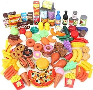 Magicfun 139PCS Küchenspielzeug für Kinder, Plastik Lebens