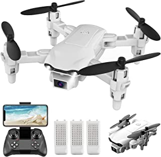4DRC V9 Mini Drone with Camera for kids beginners,720P HD FPV Live Video Camera,3 Batteries,RC Quadcopter Helicopter Toys ...