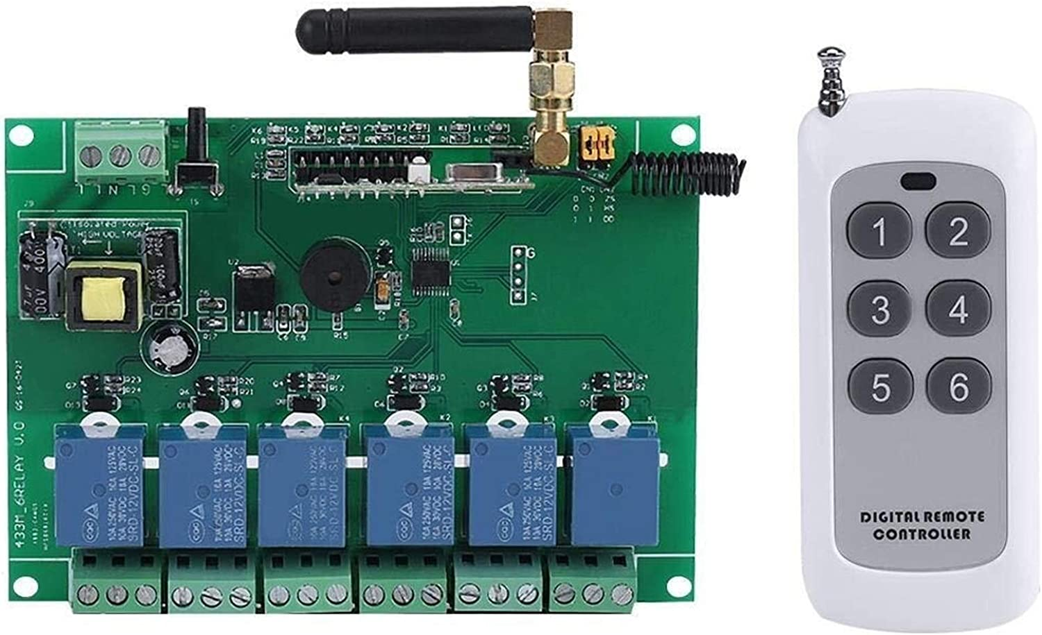 LIMEI-ZEN Rf Remote Switch Module Don't miss the campaign 1pc RF 110-240V 6 Channel Rel Challenge the lowest price of Japan