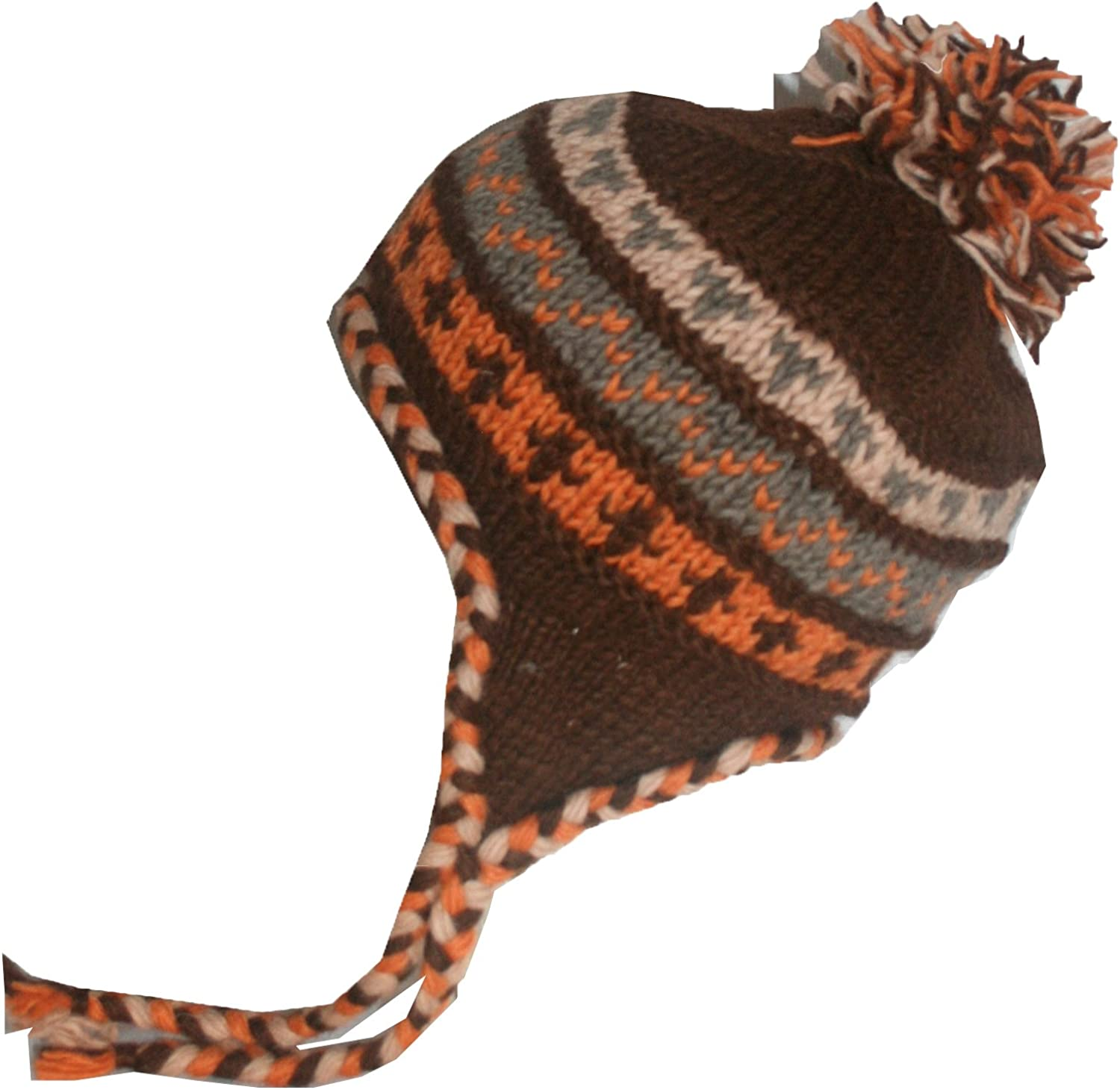 Agan Traders Unisex Beanie Hat Mitten Folding Knit Fleece Lined Insulated Thick Chunky For Cold Weather