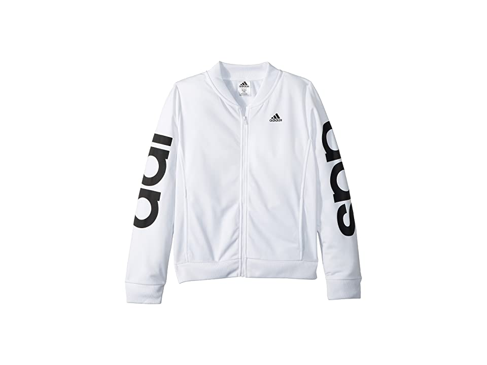 adidas Kids Cropped Adi Bomber Jacket (Big Kids) (White) Girl