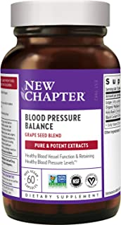 New Chapter Blood Pressure Supplement - Blood Pressure Take Care with Grapeseed + Black Currant + Non-GMO Ingredients for ...