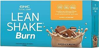 GNC Total Lean Lean Shake Burn to Go Bottles - Chocolate Mocha, 12 Pack, High-Protein to Burn More Calories