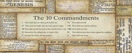 10 Commandments 20x8 Inspirational Poster Christian Biblical Art Print