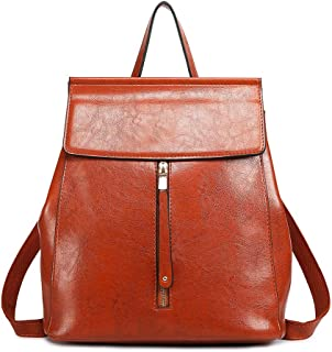Miss Lulu Faux Leather Backpack for Girls School Bag Casual Daypack for Women