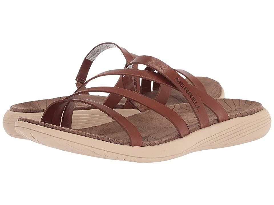 Merrell Duskair Seaway Slide Leather (Merrell Oak) Women