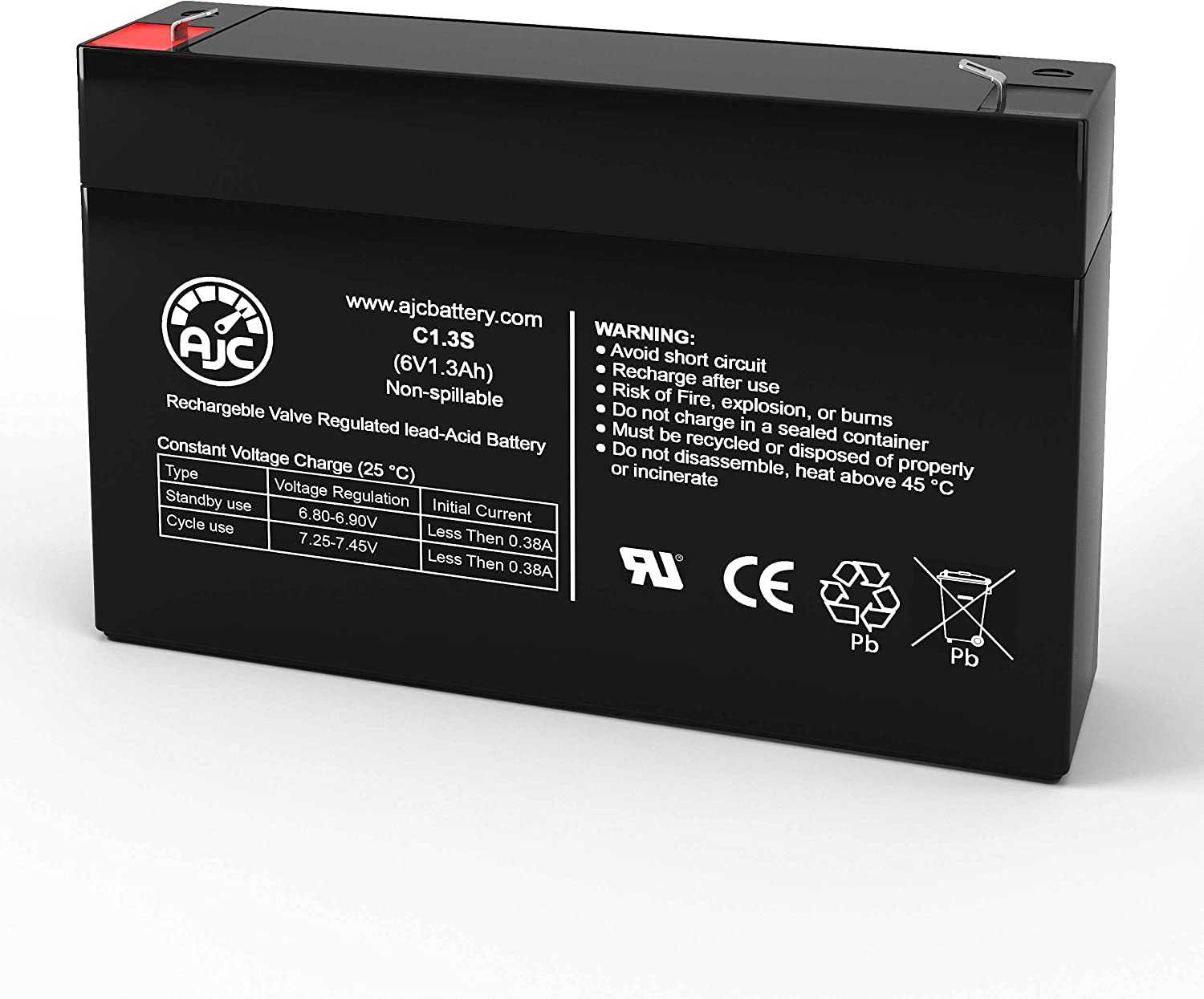 Trust BB BP1.2-6 6V 1.3Ah Sealed Lead Acid Battery AJC - Br This High material an is