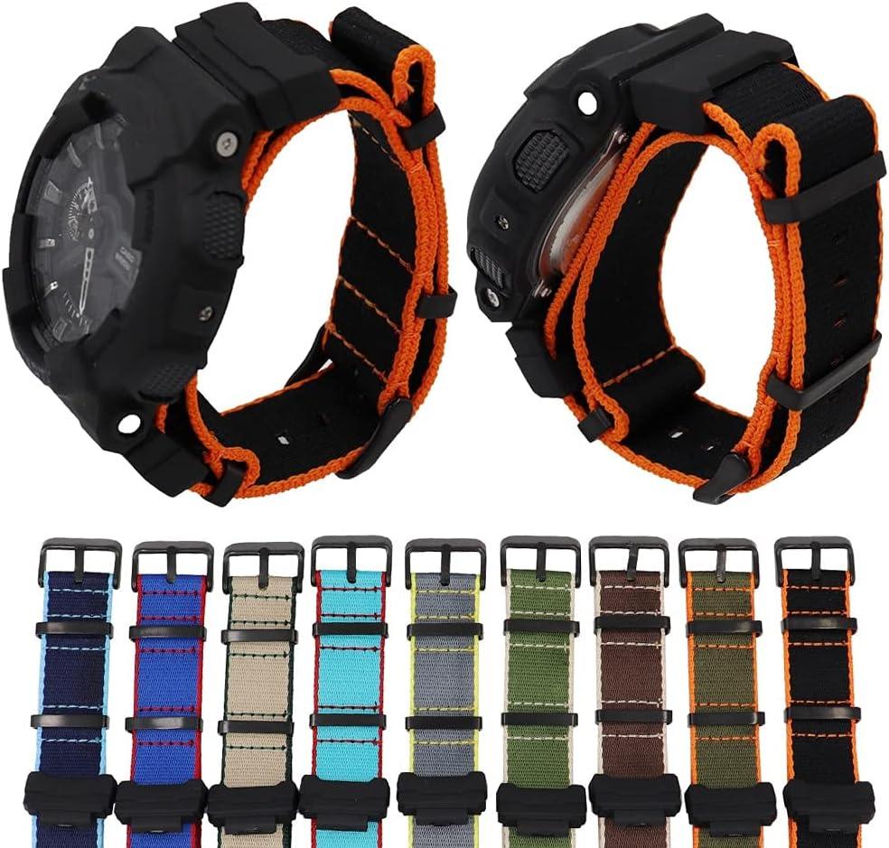 HQTUAN Nylon Selling rankings Canvas Strap unisex Watchband Casio GA-110 100 for G-Shock