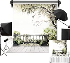 Kate 5x7ft/1.5m(W) x2.2m(H) Wedding Photography Backdrops White Flowers Background Natural Scenery Bridal Shower Photo Studio Props