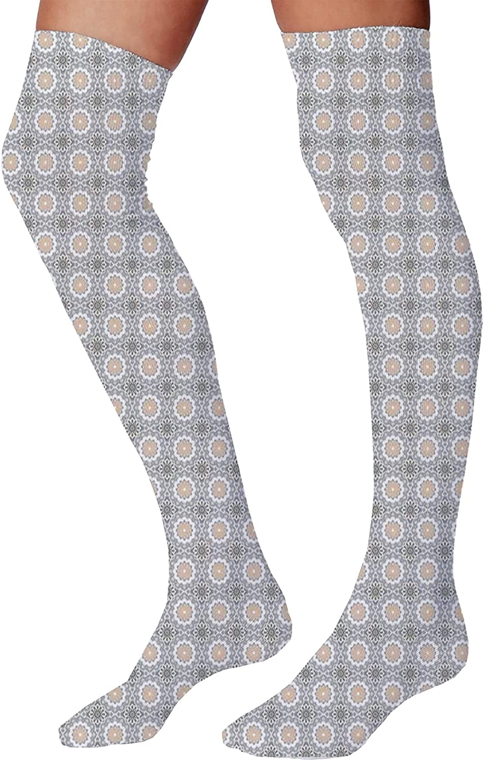 Men's and Women's Fun Socks,Monument Valley in Wild West Historical American Lands and Sky Photo Deco