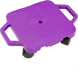 Cosom Scooter Board, 12 Inch Children's Sit & Scoot Board with 2 Inch Non-Marring Nylon Casters & Safety Guards for Physical Education Class