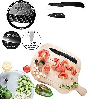 BERELA HOME Cuchillo de cerámica Profesional, Cuchillo cerámica 7.6 cm con Funda. Nuevo diseño Cuchillo cerámico con Estilo Fibra de Carbono