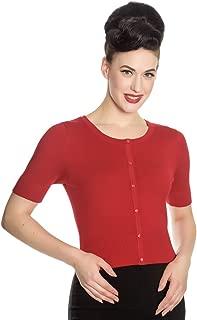 Red Wendi Vintage Style Cardigan