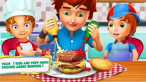 Burger Maker Shop 3D: Kinder Mittagessen Maker Spiele KOSTENLOS