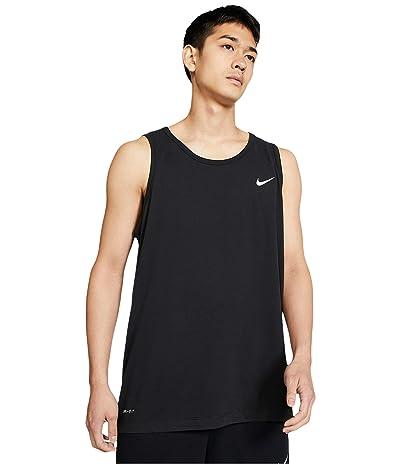 Nike Big Tall Dry Tank Top Dri-Fit Cotton Solid (Black/White) Men