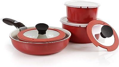 Neoflam Midas PLUS Nonstick Ceramic Cookware Set - Best Eco Friendly Pots and Pans
