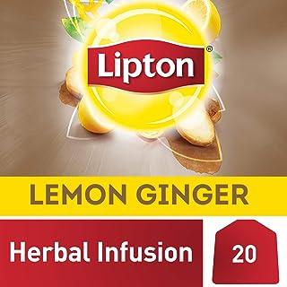 Lipton Herbal Infusion Tea Bags - Lemon Ginger, 20s