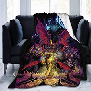 Flannel Fleece Throw Blanket for Spring Farmhouse Sports, Super Soft Godzilla Monsters Rulers of Earth Anime Poster Moving Blanket, Comfy Anti-Static 50