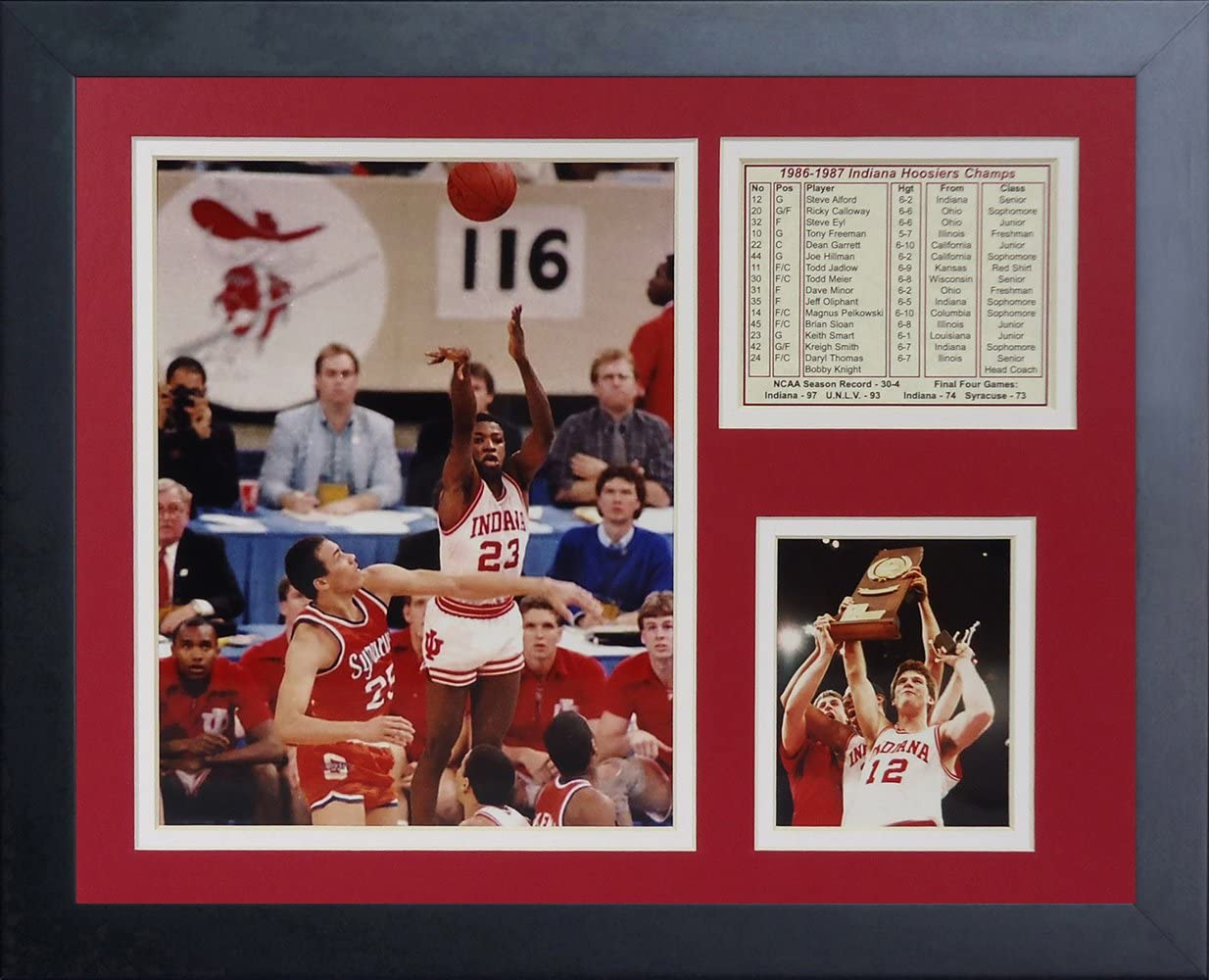 Legends NEW Never 5 ☆ very popular Die 1987 Indiana Hoosiers Collage Photo Champions