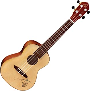Ortega RU5 - Ukelele de concierto (tapa de pícea y fondo y aros de caoba), color natural
