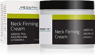 YEOUTH Neck Cream for Firming, Anti Aging Wrinkle Cream Moisturizer, Skin Tightening, Helps Double Chin, Turkey Neck Tightener, Repair Crepe Skin with Green Tea, Argireline, Vitamin C - 2oz (4oz)