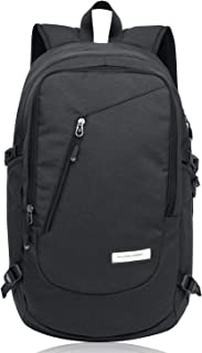 KAKA Water Resistant Business Laptop Backpack for Men and Women Fits Up to 15.6 Inch Notebook (Black)