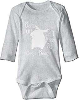 Back Off Oogie Boogie Newborn Toddler Baby Long Sleeve Bodysuit,Jumpsuit Outfits Gray