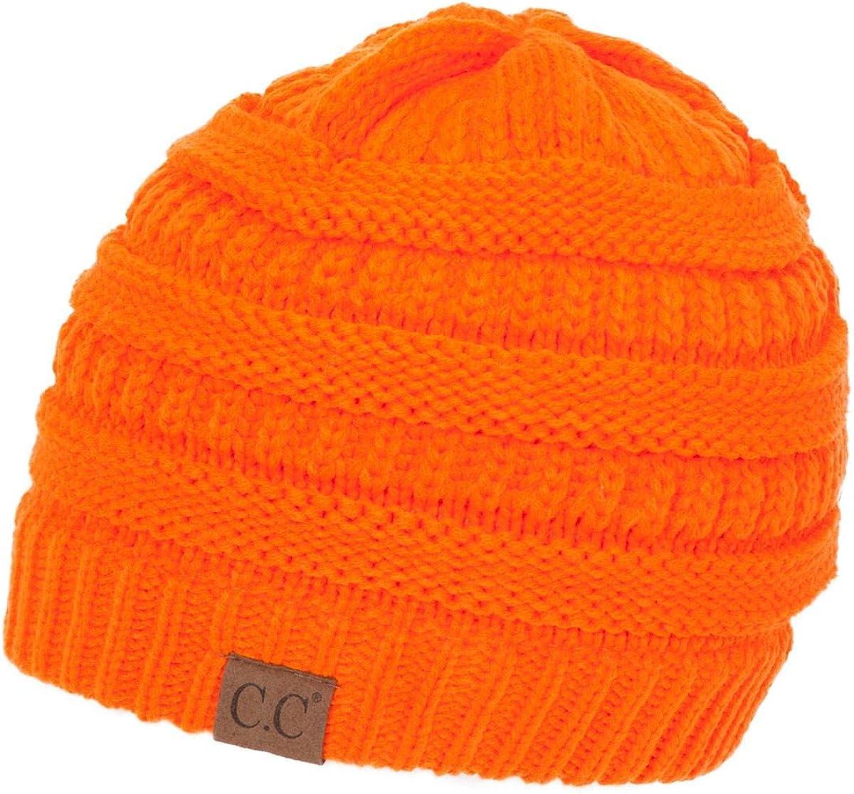 C.C Women's Thick Soft Reservation Cap Knit service Hat Beanie
