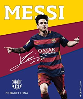 FC Barcelona Lionel Messi Silk Touch with Sherpa Lining Throw Blanket 50x60 Inches