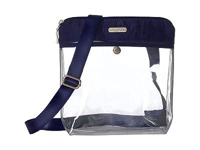 Baggallini Legacy Stadium Bags Clear Pocket Crossbody (Dark Blue) Cross Body Handbags