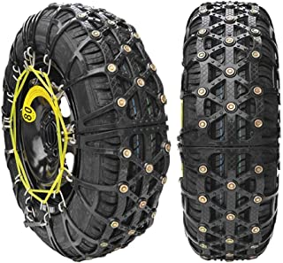 Fting Snow Chains for Car SUV Truck - Emergency Snow Tires Anti-Slip Chain for Tyres Portable Easy to Mount Generic Car Winter Snow Chains (Color : Black, Size : 2355R16)