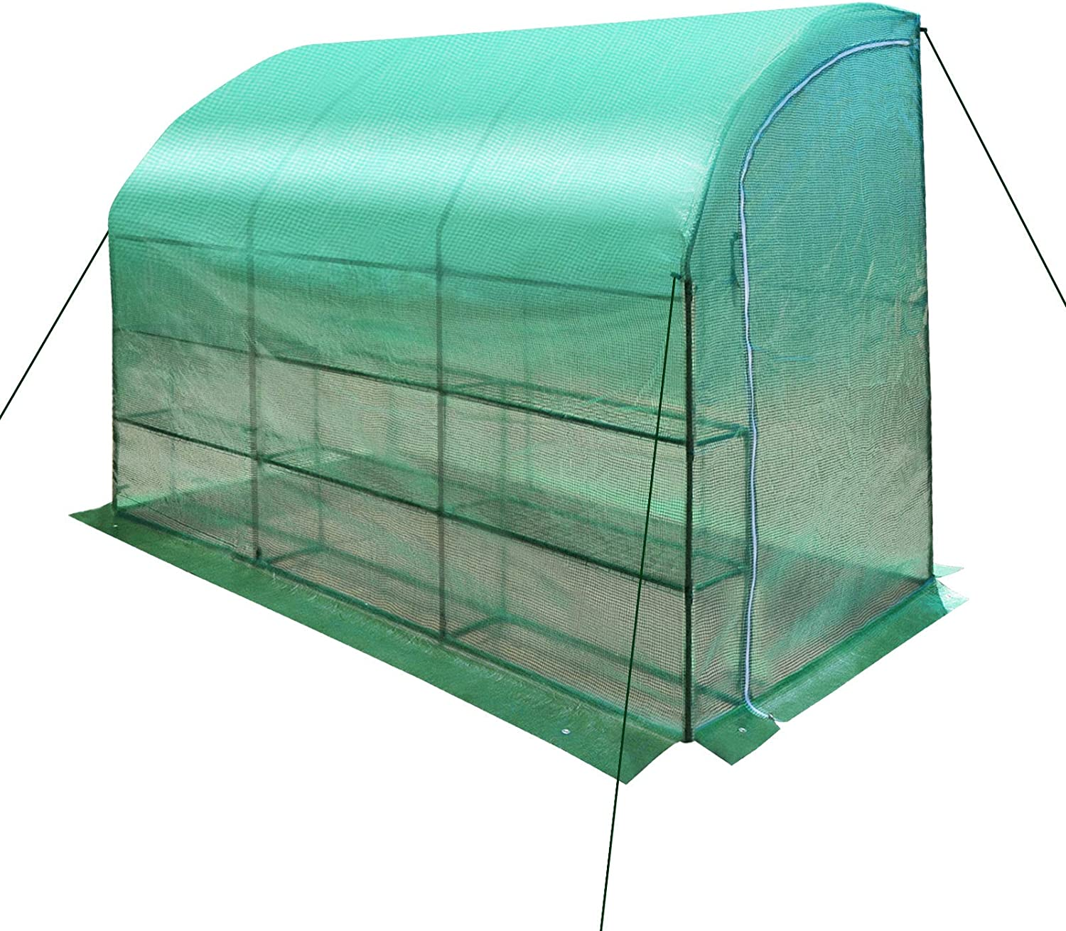 BenefitUSA New Max 71% OFF Large Walk-in Wall w 3 New item Tiers Greenhouse 10x5x7'H
