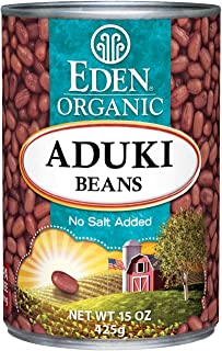Eden Organic Aduki Beans, No Salt Added, 15-Ounce Cans (Pack of 12)