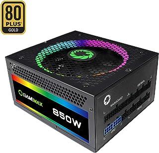 Game Max RGB-850 - Fuente de alimentación, Color Negro