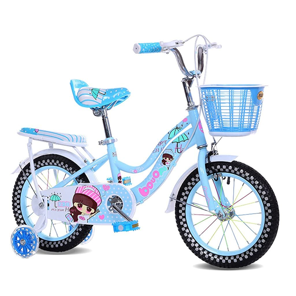 Fenfen Children's Bicycle 12/14 Inch Girl Baby Carrier 2-3-4-5 Year Old Baby Cycling High Carbon Steel, Pink/Blue/Purple