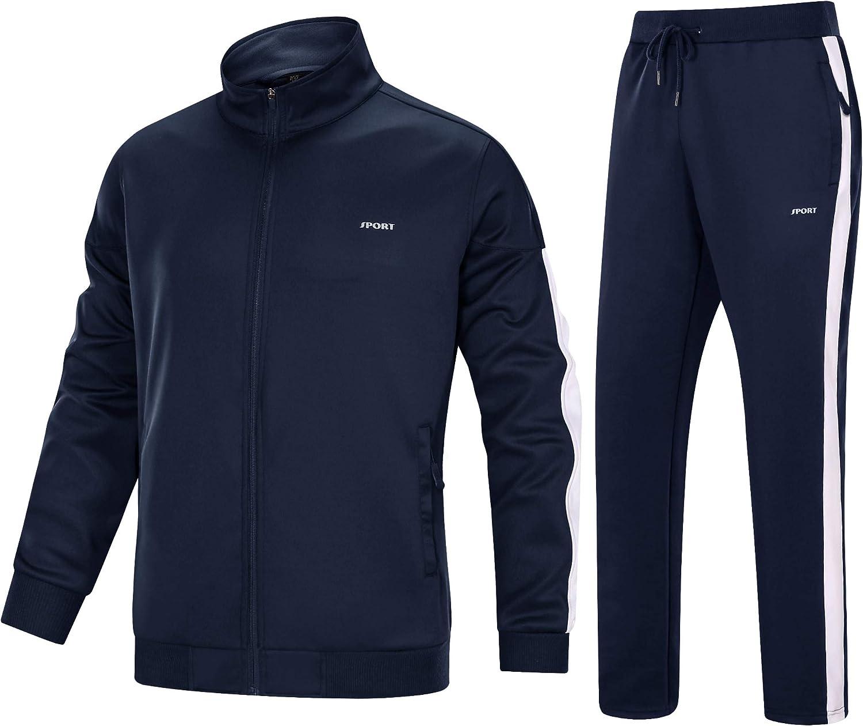 New color MAGNIVIT Men's Tracksuit 2 Piece Full Super special price Jogging Runni Athletic Zip