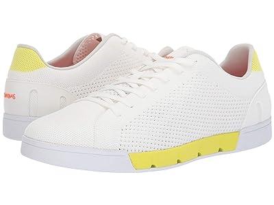 SWIMS Breeze Tennis Knit Sneakers (White/Limeade) Men