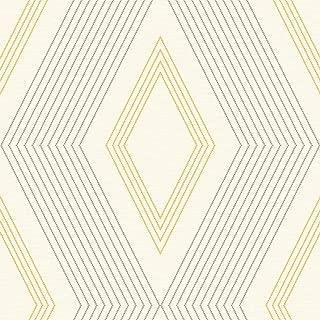 Décor Direct YWGE3692 Pattern Wallpaper Cream, Grey, Medium Yellow