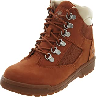 Timberland 6 Inch Youth's Field Boots Dark Orange tb0a1q5d