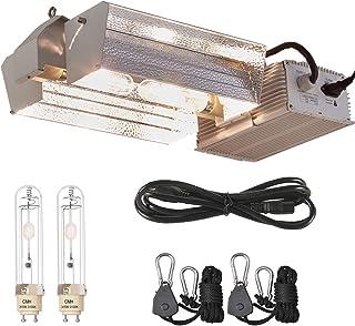 TopoLite CMH 315W/ 630W CDM 120/240V Grow Light Fixture Kit w/Bulb & 120V Plug Hydroponic Indoor Plants System (Wide CMH 630W(3100K Bulbs))