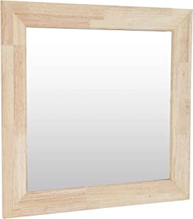 comprar comparacion Adec - Natural, Espejo Cuadrado, Espejo de Pared, Marco de Madera de Roble Salvaje, Medidas: 70 cm (Alto) x 70 cm (Ancho) ...