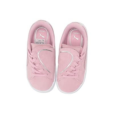 Puma Kids Suede Crush Slip-On (Toddler) (Pale Pink/Puma Silver) Girls Shoes