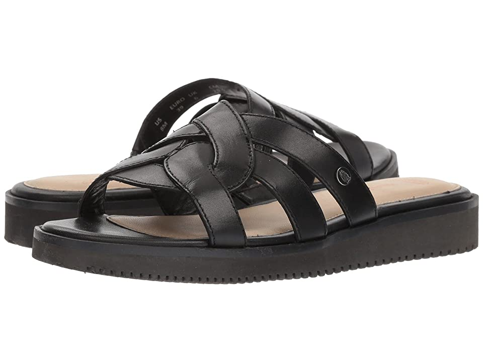 Hush Puppies Briard Braid Slide (Black Leather) Women