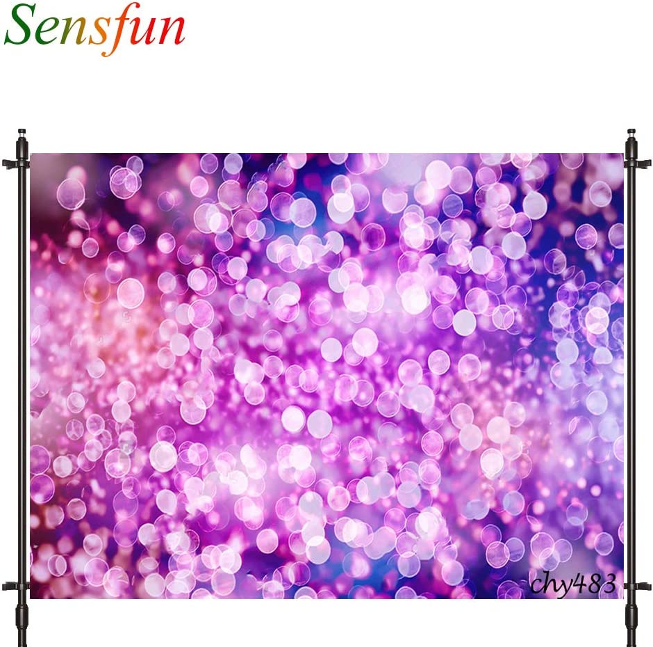 7X5ft Colorful Bokeh Ivory Gold Photography Backdrop Spots Shinning Sparkle Sand Scale Halo Still Life Colorful Background Newborn Baby Portrait Photo Studio Family Party 7x5ft,chy485