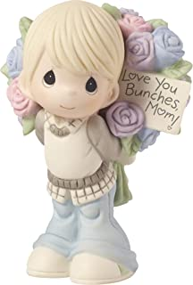 Precious Moments Love You Bunches Mom Boy Bisque Porcelain 183005 Figurine, One Size, Multi