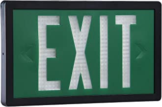 Isolite - SLX-60-D-10-G - 2 Face Self-Luminous Exit Sign, Green Background Color, Black Frame Color, 10 yr. Life Expectancy