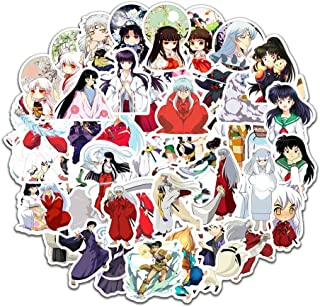 SosoJustgo2 Classic Japanese Anime Cartoon Laptop Stickers Waterproof Stickers Sheet for Skateboard Pad MacBook Car Snowboard Bicycle Luggage Décor(Inuyasha 50PCS)