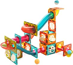 CUTE STONE Magnetic Tiles Magnetic Blocks Building Toys Marble Run for Kids, Educational STEM Learning Toys for Toddlers, Gifts for 3 + Year Old Boys and Girls, 84 PCS