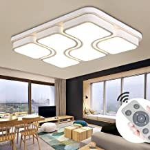 MYHOO 78W LED Blanco fr/ío Luz de techo Dise/ño de moda moderna plaf/ón,L/ámpara de Bajo Consumo Techo para Dormitorio,Cocina,oficina,L/ámpara de sala de estar,Color Negro 78W Blanco fr/ío